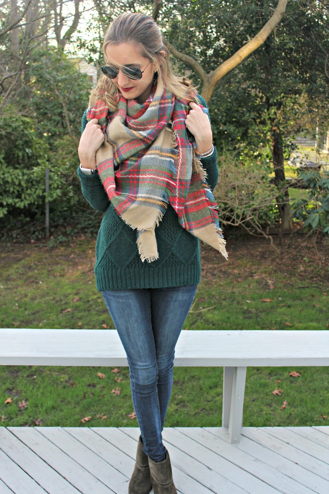 dresslink plaid blanket scarf