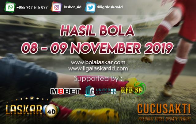 HASIL BOLA JITU TANGGAL 08 – 09 NOVEMBER 2019