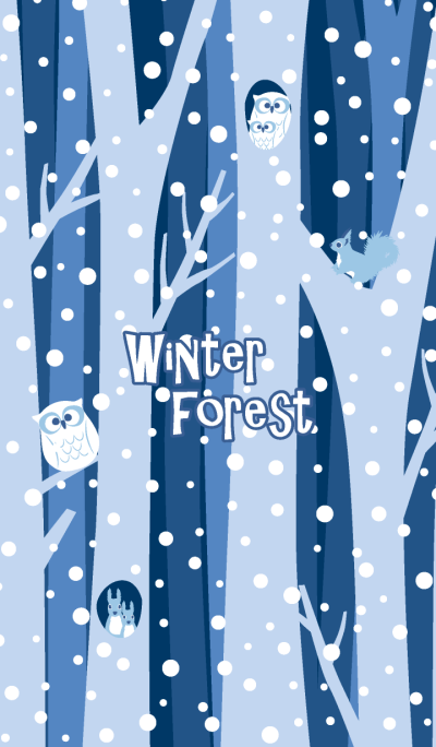 Winter forest & animals 2