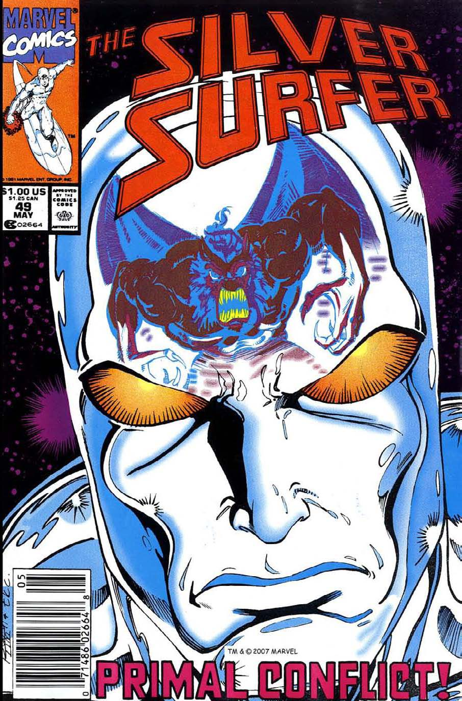 Read online Silver Surfer (1987) comic -  Issue #49 - 1