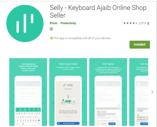 Review Aplikasi Pembantu Khusus Penjualan dari Selly