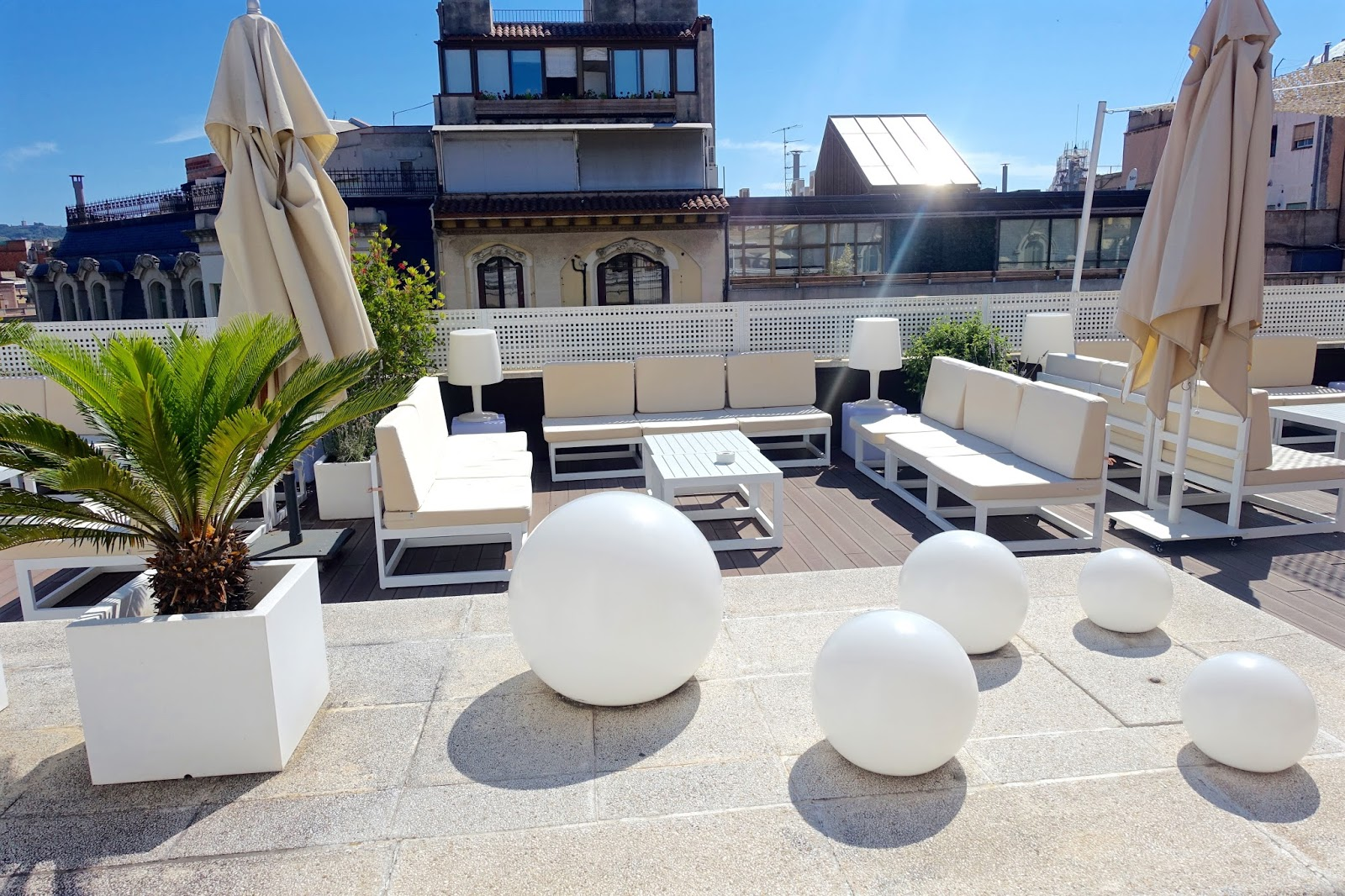 rooftop outdoor terrace and rooftop pool