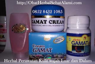 Cream penghilang jerawat+pemutih+perawatan wajah alami GAMAT emas/GOLD herbal alami aman berBPOM