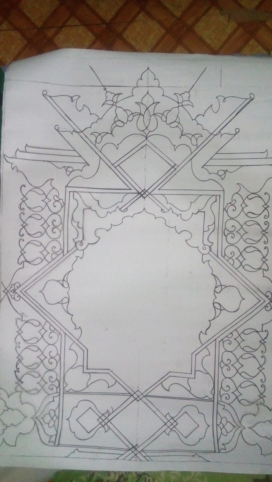 Hiasan Pinggir Kaligrafi : hiasan, pinggir, kaligrafi, Sketsa, Hiasan, Pinggir, Kaligrafi, Bunga, Cikimm.com