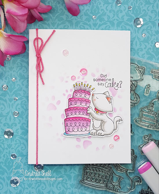 Did someone say cake by Andrea features Newton Loves Cake and Pawprints by Newton's Nook Designs; #newtonsnook