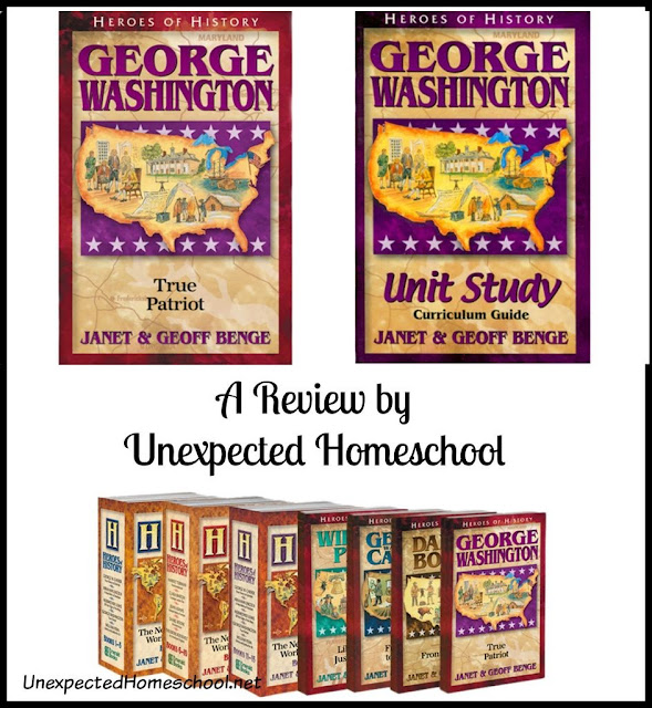 Unexpected Homeschool: Review of George Washington: True Patriot from the Heroes of History series from Ywam Publishing. A perfect history resource!
