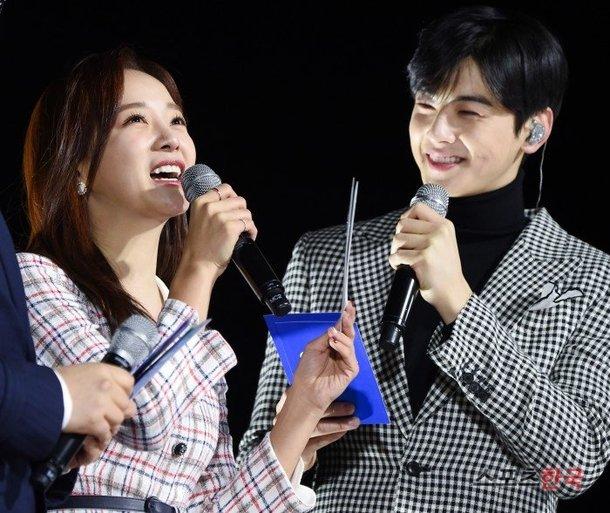 NB 】 Cha Eunwoo and Kim Sejeong MC at the Indepenence Day ...