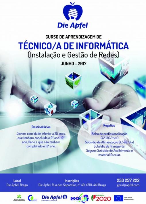 Curso de aprendizagem de Técnico(a) de Informática – Instalação e Gestão de Redes – Braga