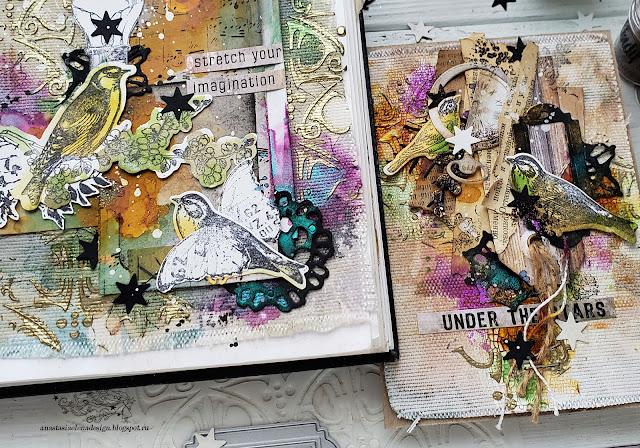 @nastyalena #artjournal #postcard #mixedmedia