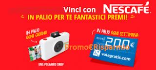 Logo Con Nescafé vinci Polaroid Snap e buoni sconto Volagratis