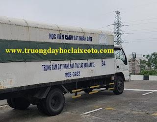 học lái xe ô tô tải C bằng xe ISUZU 5 tấn