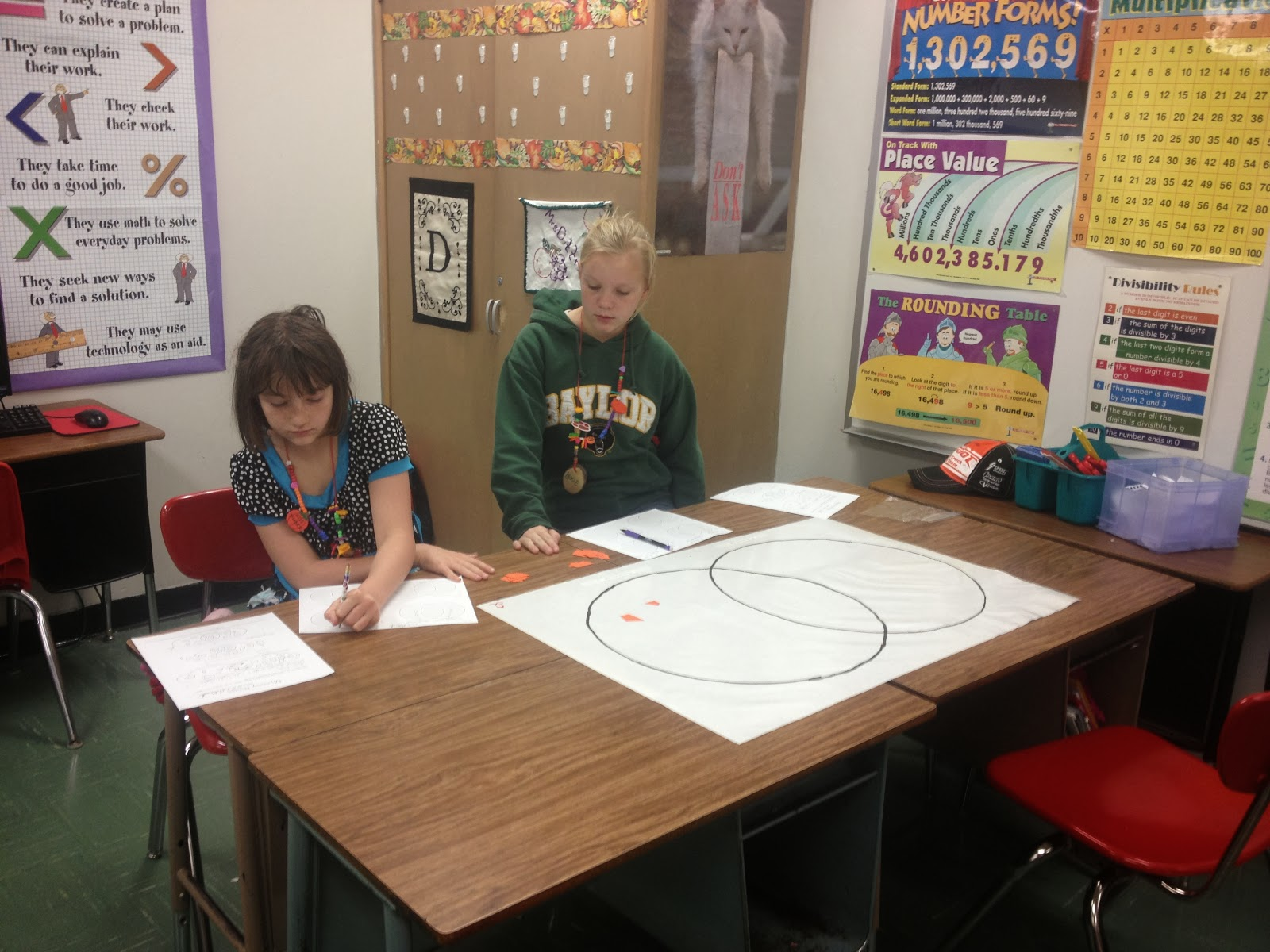 Math With Mrs D Quadrilateral Attributes 2 Way And 3 Way Venn Diagrams