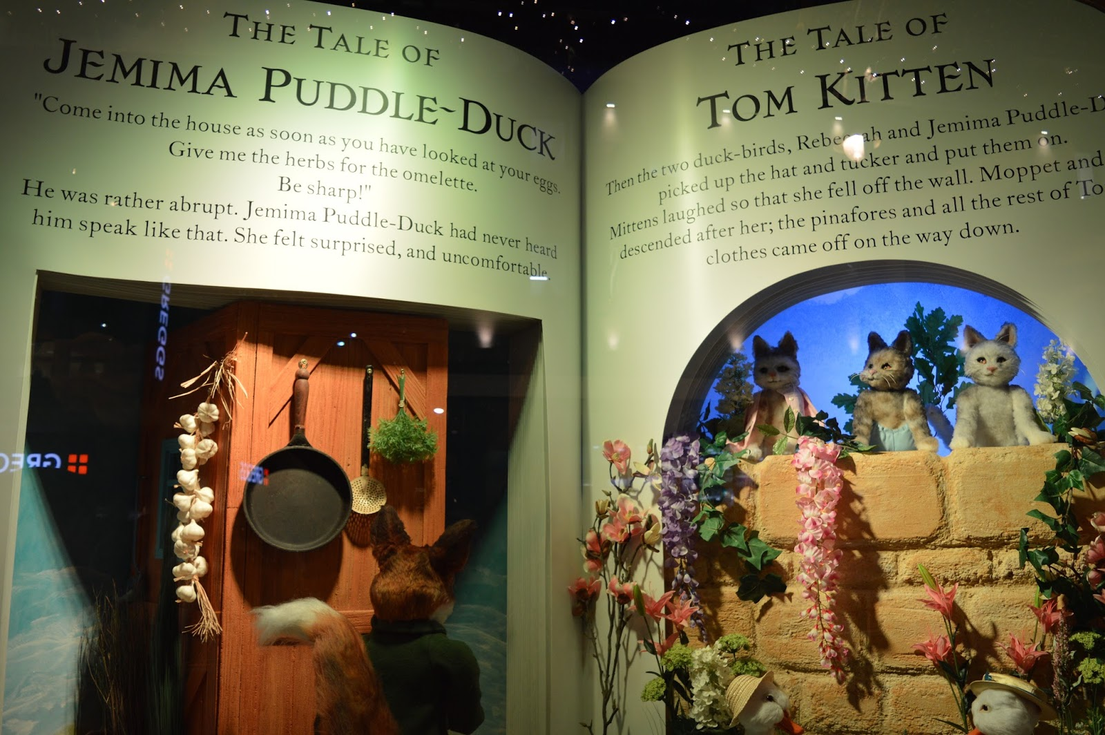 Fenwick's Window Newcastle 2016. Beatrix Potter / Peter Rabbit theme - Jemima puddle duck