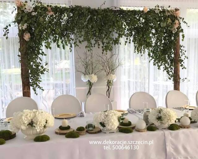 Dekoracja ślubna w Bukowy Park - Hotel & Restauracja