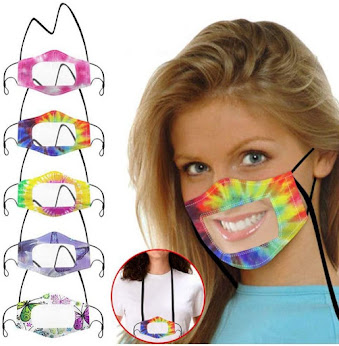 FACE MASKS - Clear Face masks with Lanyard