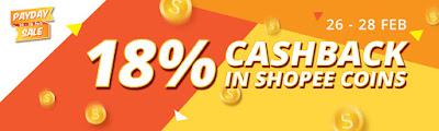 shopee, cashback 18%, shopping di Shopee, jualan murah shopee, waktu kemuncak aktiviti membeli belah secara online, tabiat membeli belah pengguna shopee sempena hari gaji