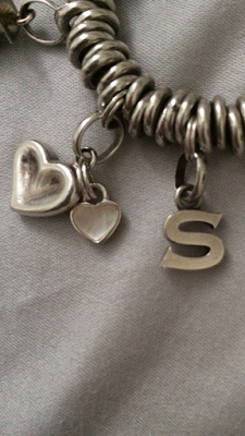 Links of London heart charm and S charm