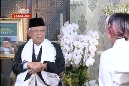 Beredar Video Ma'ruf Amin Samakan Natal dengan Maulid Nabi di Acara Rosi