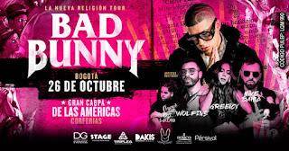 Concierto de BAD BUNNY en Bogotá 2018