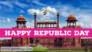 Indian Republic Day on Red Fort HD Greetings