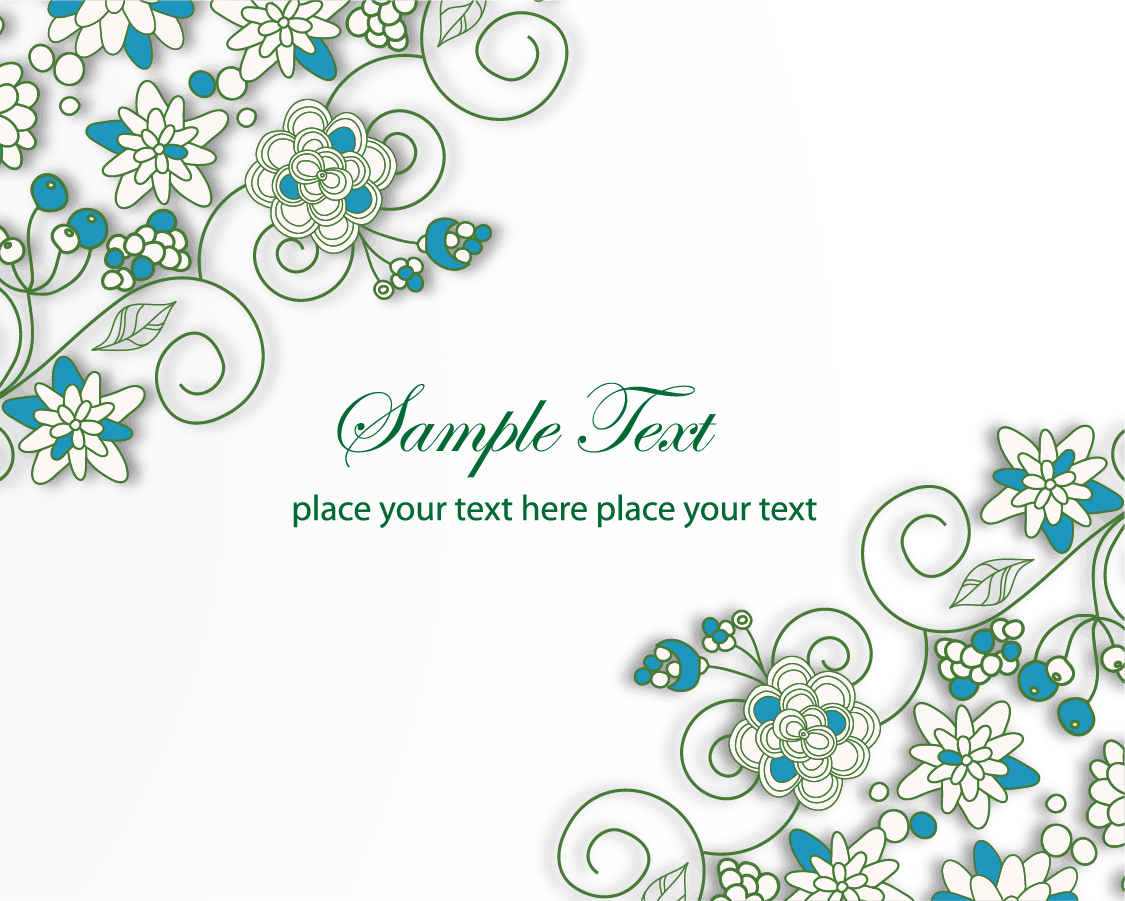 blue flower backgrounds vector - photo #16
