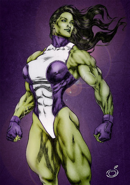 She-Hulk colored