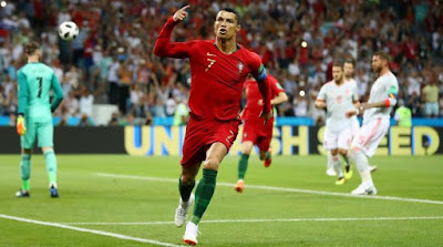 Highlight Portugal 3-3 Spanyol, 15 Juni 2018