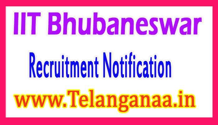 IIT Bhubaneswar Recruitment Notification 2017