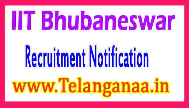 IIT Bhubaneswar Recruitment Notification