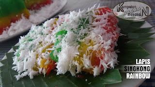 Resep Lapis Singkong Rainbow