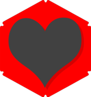 heart hexagon icon
