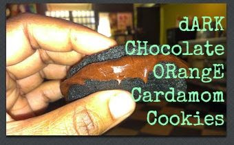 Dark Chocolate Orange Cardamom Cookies