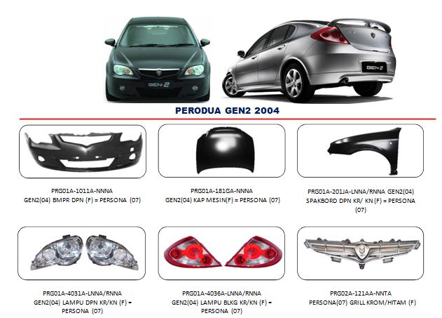 Bemper Perodua Persona 2004-2007