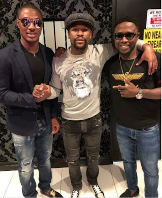 1 4 - ENTERTAINMENT: Jude Ighalo Pictured With Floyd Mayweather In Las Vegas