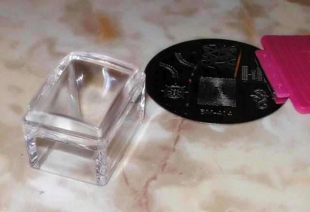 Tampon Nail Art transparent