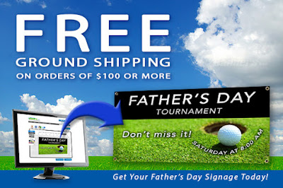 Free Ground Shipping on orders of $100+ through 6/4/16 | Banners.com