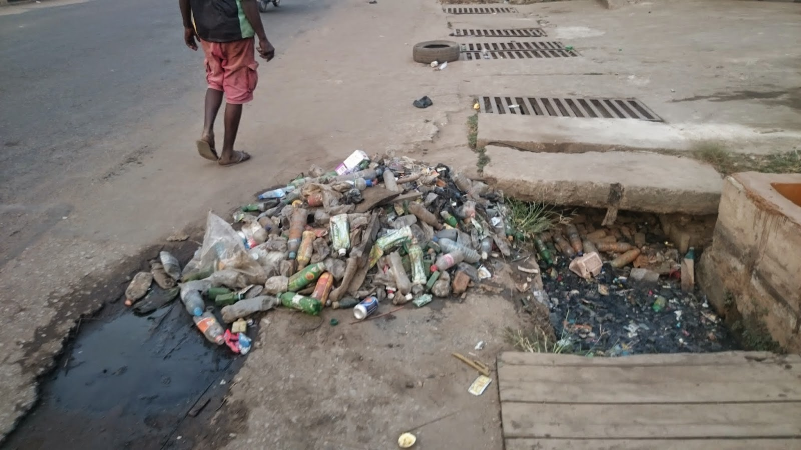 Waste pollution affecting drainages in Iyana Ipaja area of Lagos