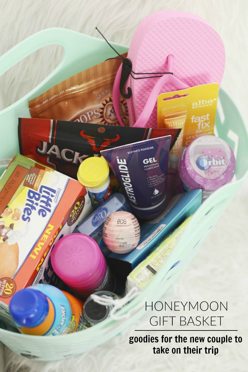 Honeymoon Gift Basket for travel