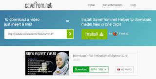 Tampilan savefrom.net