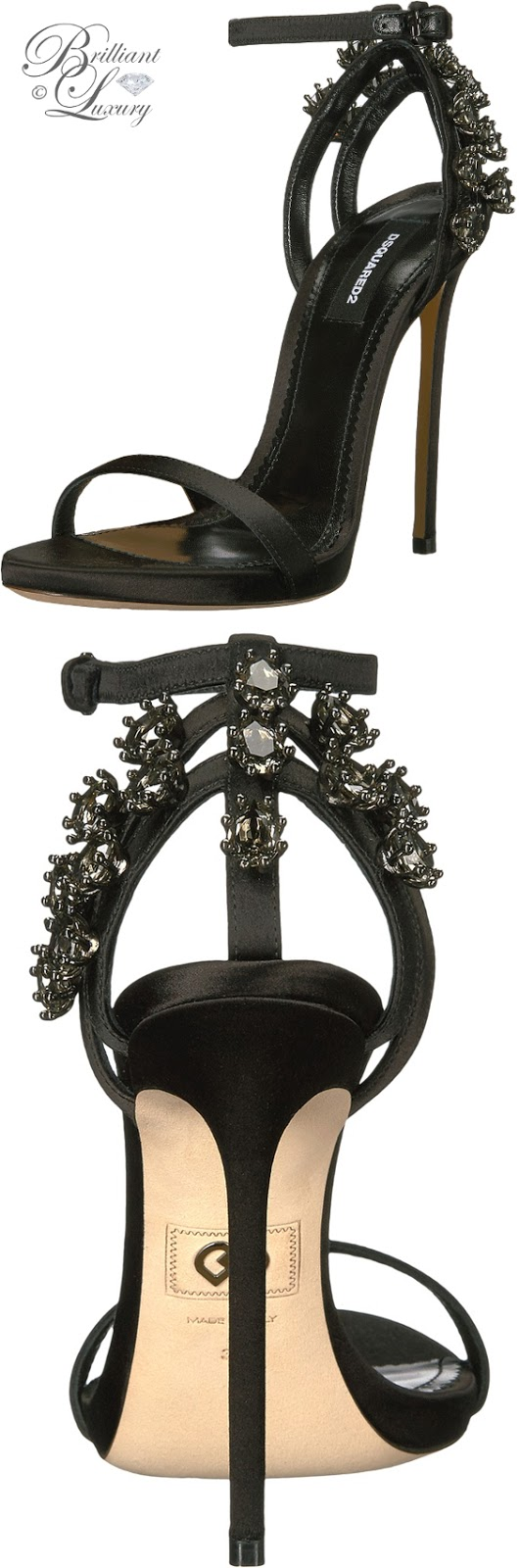 Brilliant Luxury ♦ Dsquared2 bejeweled high heel sandals