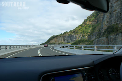 Driving Across the Sea Cliff Bridge in the Mitsubishi Outlander