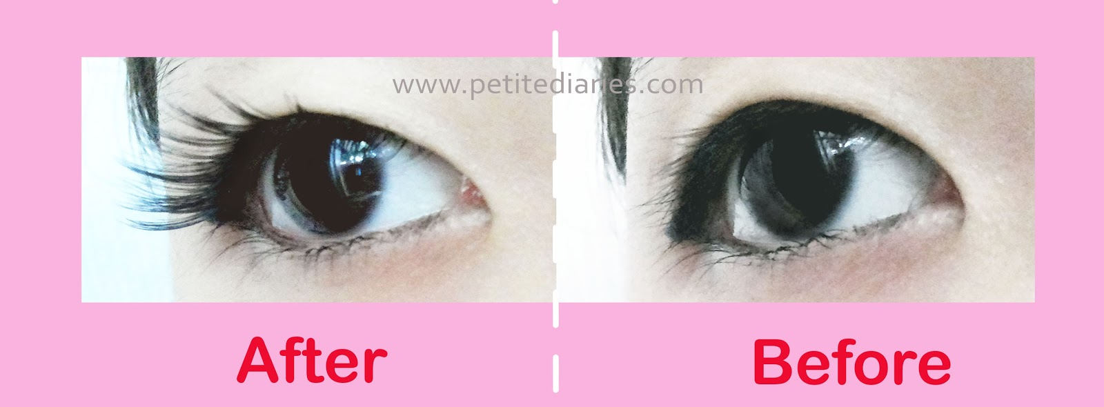 japanese eyelashes dup love cherie review before after