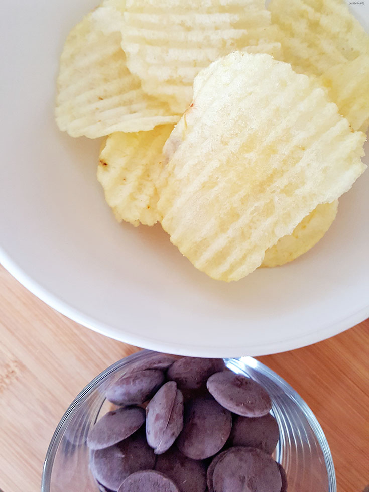 It's easy to surprise your friends with a delicious treat with this amazingly simple recipe for the best SWEET & SALTY treat: Chocolate Covered Potato Chips!