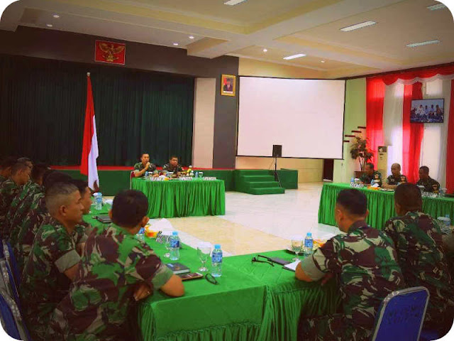 Wasrir Itjen TNI AD Kunjungi Korem 151 Binaiya