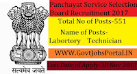 Service Selection Board Recruitment for 551 Technicians Posts