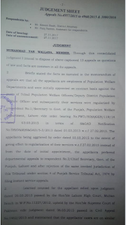 High Court Judgement regarding Regularization of Punjab Contract Employees