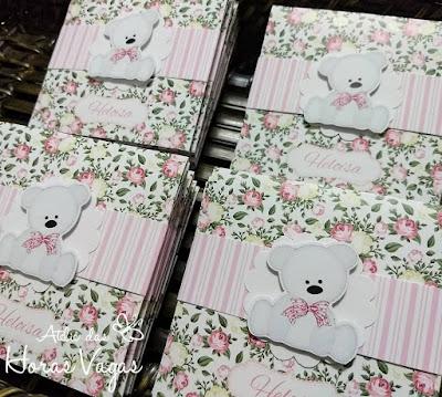 convite de aniversário infantil personalizado jardim encantado floral rosa vintage urso ursinha ursinhas delicado 1 aninho chá de bebê