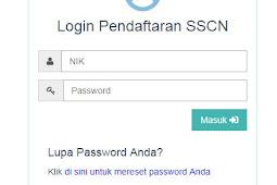Cara Memperbaiki dan Mereset Password Akun SSCN CPNS