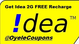 Idea free 2G Internet Recharge Tricks