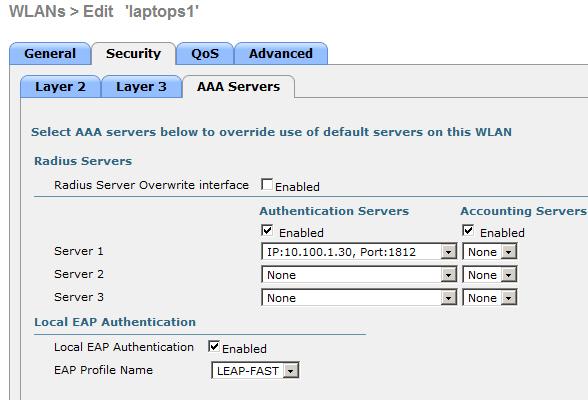 CCIE Wireless: WLAN controller Local EAP profile vs external RADIUS
